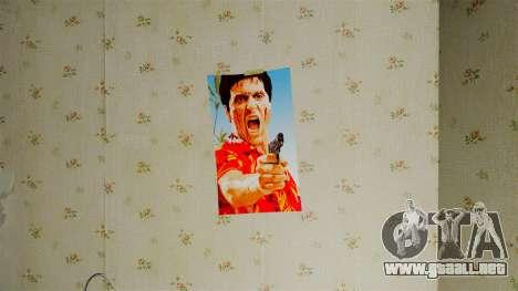 Nuevos carteles en el apartamento del segundo para GTA 4 sexto de pantalla