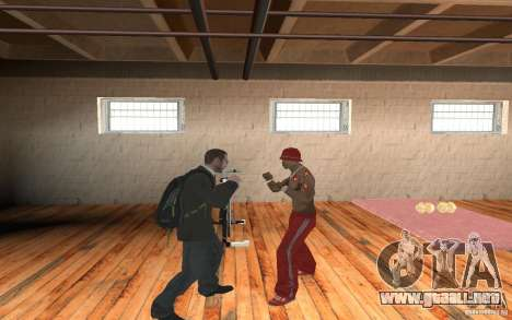 The combat system from GTA IV para GTA San Andreas segunda pantalla