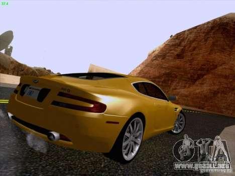 Aston Martin DB9 para visión interna GTA San Andreas