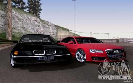 BMW 730i E38 para vista lateral GTA San Andreas