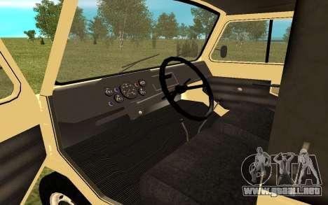 LuAZ 13021 para la visión correcta GTA San Andreas