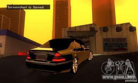 Mercedes-Benz S600 W200 para la visión correcta GTA San Andreas
