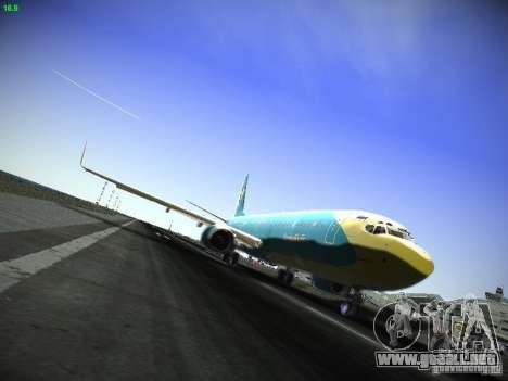 Boeing 737-84R AeroSvit Ukrainian Airlines para GTA San Andreas left