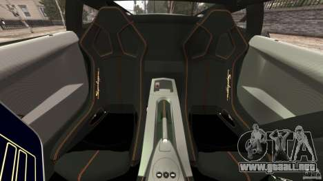 Lamborghini Gallardo LP570-4 Superleggera Police para GTA 4 vista interior
