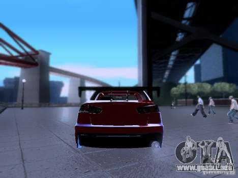 Mitsubishi Lancer Evolution X v2 Make Stance para visión interna GTA San Andreas