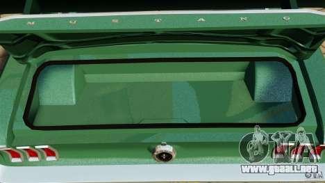 Ford Mustang 1967 para GTA 4 vista lateral