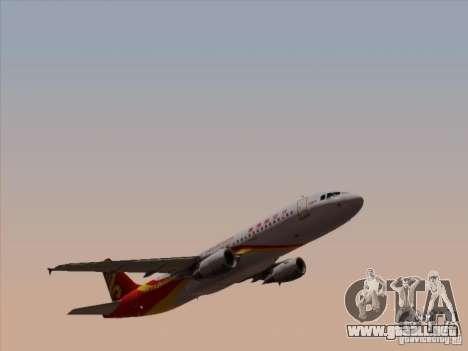 Airbus A320-214 Hong Kong Airlines para visión interna GTA San Andreas