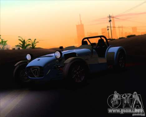 Caterham Superlight R500 para visión interna GTA San Andreas
