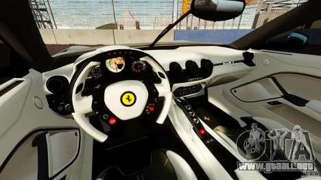 Ferrari F12 Berlinetta DCM para GTA 4 vista hacia atrás
