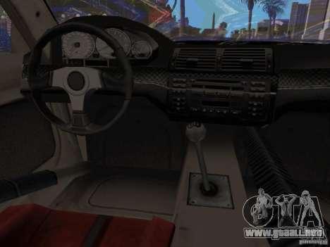 BMW M3 GTR de NFS Most Wanted para la visión correcta GTA San Andreas