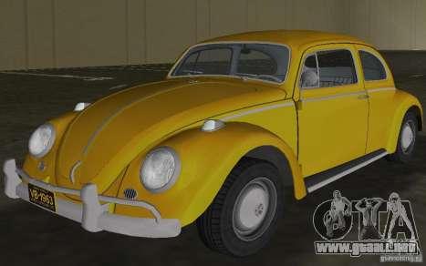 Volkswagen Beetle 1963 para GTA Vice City vista interior