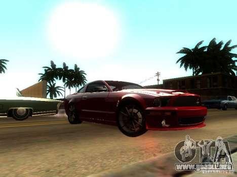Ford Shelby GT 2008 para GTA San Andreas vista posterior izquierda