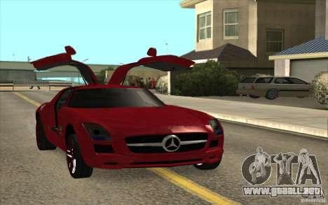 Mercedes-Benz SLS AMG 2010 para GTA San Andreas vista posterior izquierda