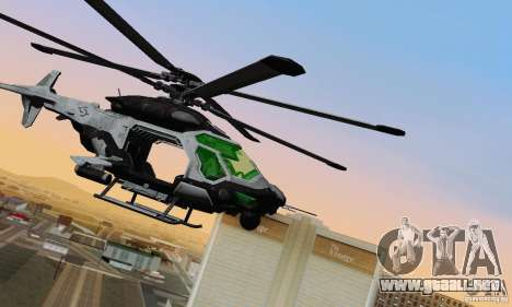 Helicóptero AH-2 Сrysis 50 C.E.L.L. para GTA San Andreas left