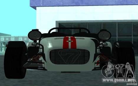 Caterham R500 para GTA San Andreas left