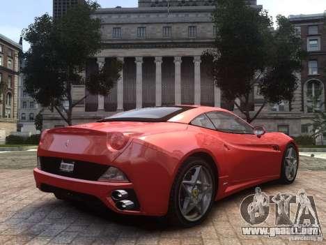 Ferrari California 2009 para GTA 4 left