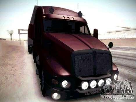Kenworth T2000 V 2.7 para la visión correcta GTA San Andreas