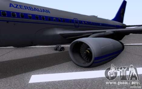 Airbus A-319 Azerbaijan Airlines para GTA San Andreas vista hacia atrás