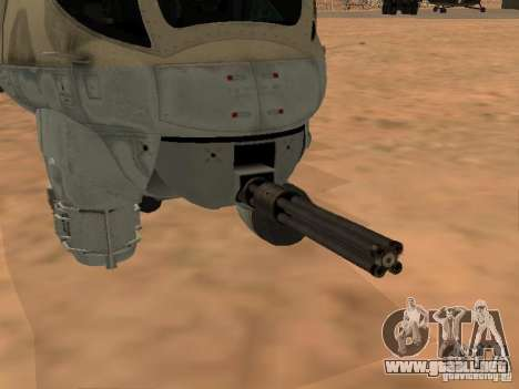 Mi-24P para vista inferior GTA San Andreas