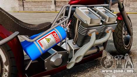 Dragbike Street Racer para GTA 4 vista hacia atrás
