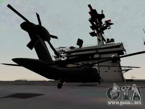 MH-X Stealthhawk para GTA San Andreas vista posterior izquierda