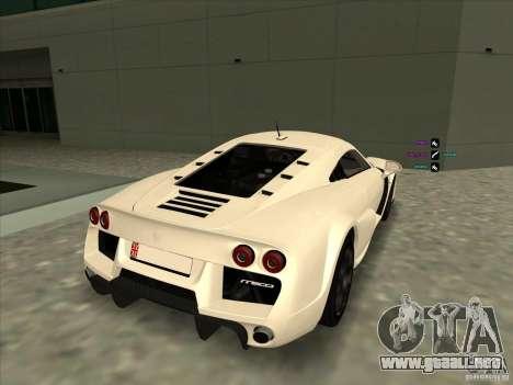 Noble M600 para GTA San Andreas vista posterior izquierda