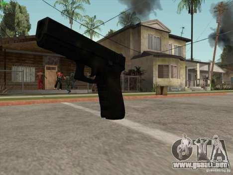 Pistola G18 para GTA San Andreas sucesivamente de pantalla