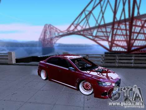 Mitsubishi Lancer Evolution X v2 Make Stance para GTA San Andreas left