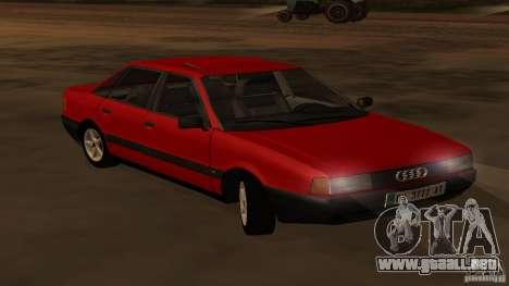 Audi 80 B3 v2.0 para la visión correcta GTA San Andreas