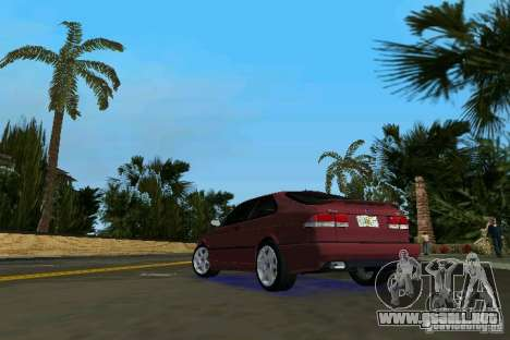 Saab 9-3 Aero 3-door 1999 para GTA Vice City vista lateral izquierdo