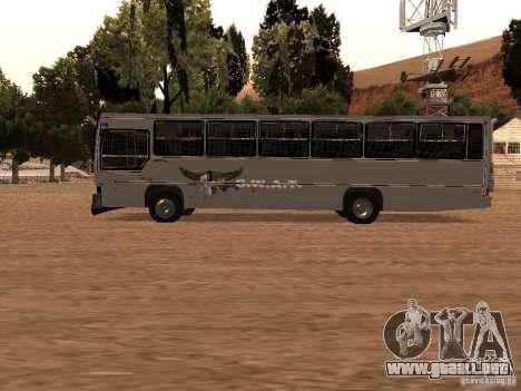 Mercedes Benz SWAT Bus para GTA San Andreas left