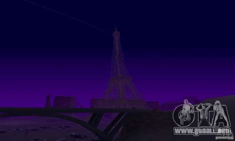 La Torre Eiffel de Call of Duty Modern Warfare 3 para GTA San Andreas quinta pantalla
