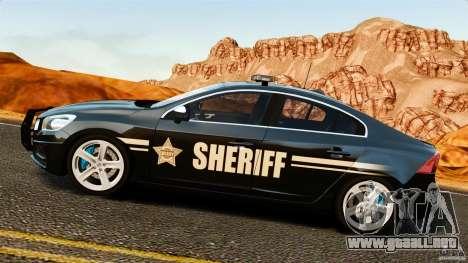 Volvo S60 Sheriff para GTA 4 left