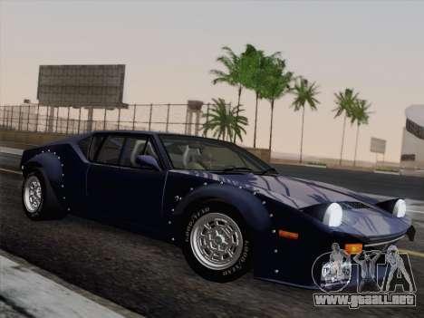De Tomaso Pantera GT4 para GTA San Andreas vista hacia atrás