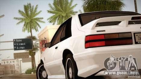Ford Mustang SVT Cobra 1993 para GTA San Andreas interior