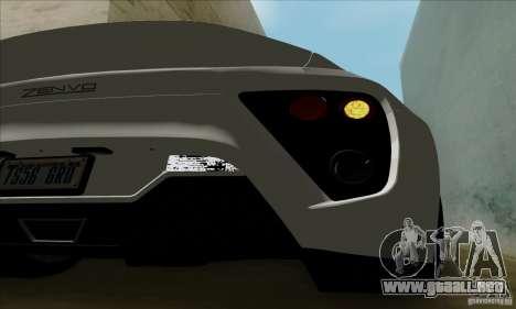 Zenvo ST1 2010 para la visión correcta GTA San Andreas