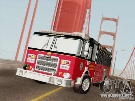 Pierce SFFD Rescue para vista lateral GTA San Andreas