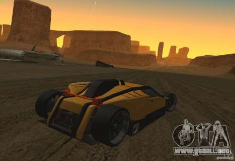 Guardia para GTA San Andreas vista hacia atrás