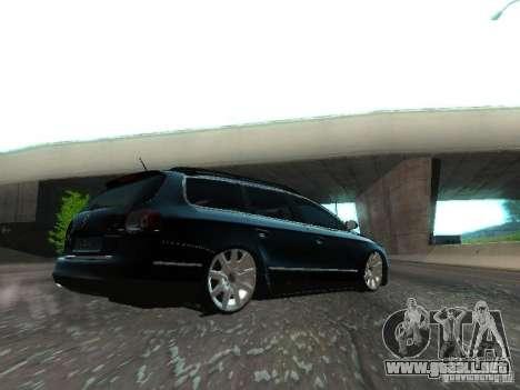 Volkswagen Passat B6 Variant Com Bentley 20 Fixa para GTA San Andreas vista hacia atrás