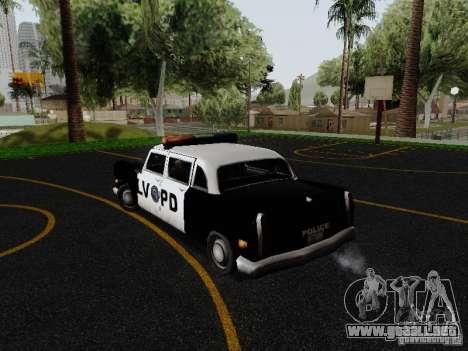 Cabbie Police LV para GTA San Andreas vista posterior izquierda