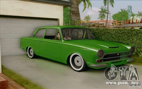 Lotus Cortina MK1 para GTA San Andreas left