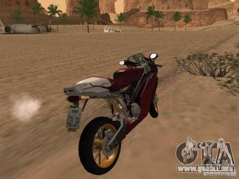Ducati 999R para GTA San Andreas vista hacia atrás
