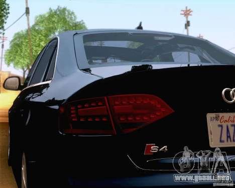 Audi S4 2010 para la vista superior GTA San Andreas