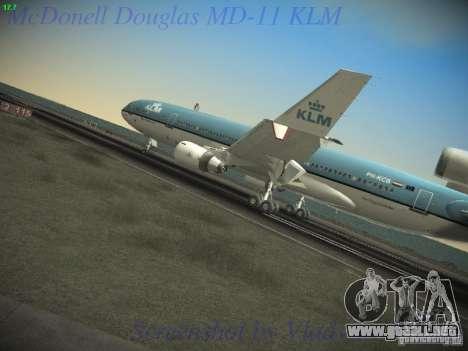 McDonnell Douglas MD-11 KLM Royal Dutch Airlines para GTA San Andreas vista posterior izquierda