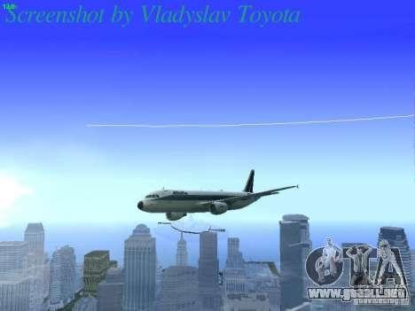 Airbus A320-214 Alitalia v.1.0 para la vista superior GTA San Andreas