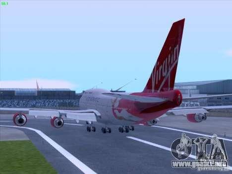 Boeing 747-4Q8 Lady Penelope para GTA San Andreas vista hacia atrás