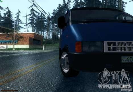 Gacela 33021 para GTA San Andreas vista posterior izquierda
