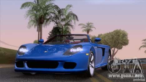 Porsche Carrera GT Custom para GTA San Andreas vista posterior izquierda