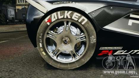 McLaren F1 ELITE Police para GTA 4 vista hacia atrás