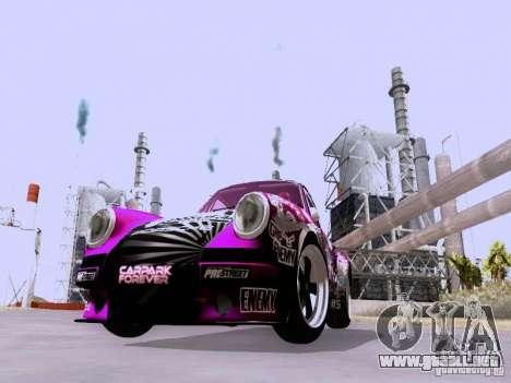 Porsche 911 Pink Power para GTA San Andreas left